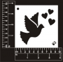 Craft Stencil : Love Dove