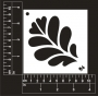 Craft Stencil : Leaves with hearts