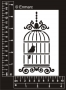 Arty Stencil : Bird in a cage