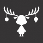 Christmas Elements : Decorated Reindeer