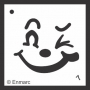 Craft Stencil : Winking Face