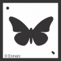 Craft Stencil : Solid Butterfly