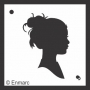 Craft Stencil : Girl Silhouette