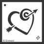 Craft Stencil : Heat & Arrow