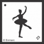 Craft Stencil : Ballerina