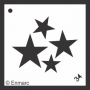 Craft Stencil : Four Stars