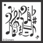 Craft Stencil : Music Collage