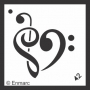 Craft Stencil : Music Heart