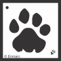 Craft Stencil : Paw Print