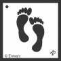 Craft Stencil : Feet