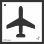 Craft Stencil : Airplane