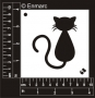 Craft Stencil : Designer Cat