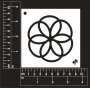 Craft Stencil : Spiral Flower