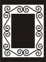 Deco Frame : Curls - Solid Rectangle (Large)