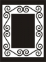 Deco Frame : Curls - Solid Rectangle (Small)