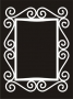 Deco Frame : Curls - Rectangle (Large)