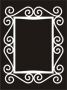 Deco Frame : Curls - Rectangle (Small)