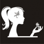 Silhouette : Woman with Butterfly